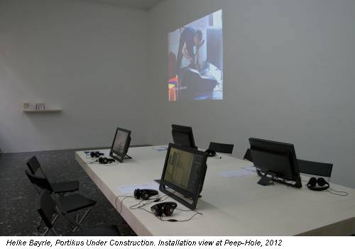 Helke Bayrle, Portikus Under Construction. Installation view at Peep-Hole, 2012