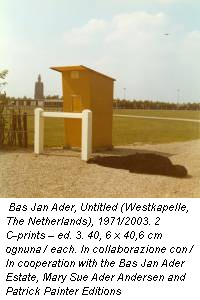 Bas Jan Ader, Untitled (Westkapelle, The Netherlands), 1971/2003. 2 C-prints – ed. 3. 40, 6 x 40,6 cm ognuna / each. In collaborazione con / In cooperation with the Bas Jan Ader Estate, Mary Sue Ader Andersen and Patrick Painter Editions