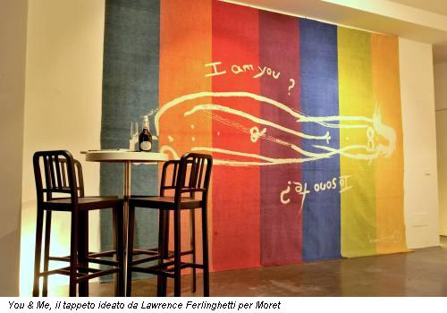 You & Me, il tappeto ideato da Lawrence Ferlinghetti per Moret