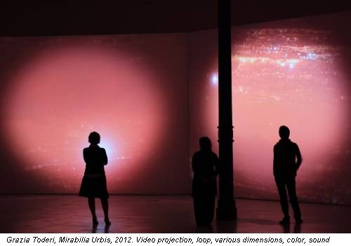 Grazia Toderi, Mirabilia Urbis, 2012. Video projection, loop, various dimensions, color, sound
