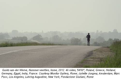 Guido van der Werve, Nummer veertien, home, 2012. 4k video, 54'00'', Poland, Greece, Holland, Germany, Egypt, India, France. Courtesy Monitor Gallery, Rome; Juliette Jongma, Amsterdam; Marc Foxx, Los Angeles; Luhring Augustine, New York; Fondazione Giuliani, Rome