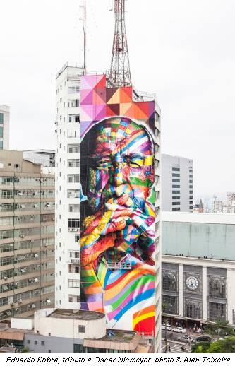 Eduardo Kobra, tributo a Oscar Niemeyer. photo © Alan Teixeira