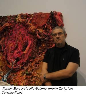 Fabian Marcaccio alla Galleria Jerome Zodo, foto Caterina Failla
