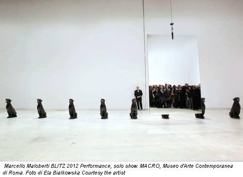 Marcello Maloberti BLITZ 2012 Performance, solo show. MACRO, Museo d'Arte Contemporanea di Roma. Foto di Ela Bialkowska Courtesy the artist