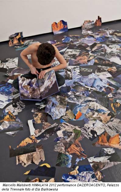 Marcello Maloberti HIMALAYA 2012 performance DAZEROACENTO, Palazzo della Triennale foto di Ela Bialkowska