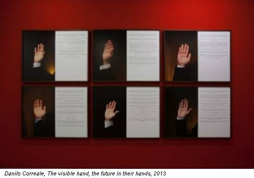 Danilo Correale, The visible hand, the future in their hands, 2013