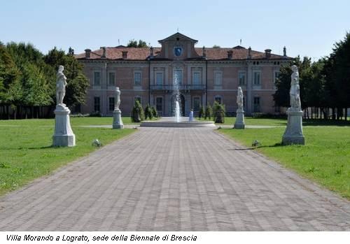 Villa Morando a Lograto, sede della Biennale di Brescia