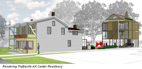 Rendering Prattsville Art Center Residency