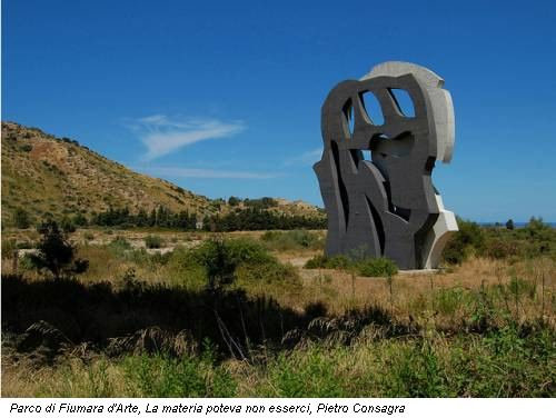 Parco di Fiumara d'Arte, La materia poteva non esserci, Pietro Consagra