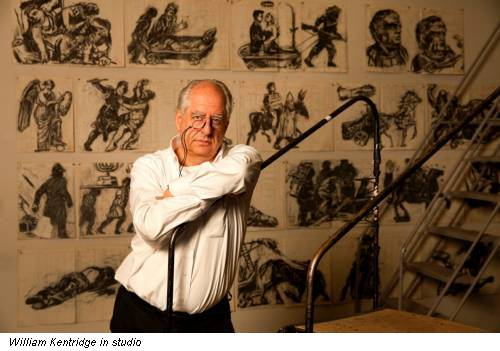 William Kentridge in studio