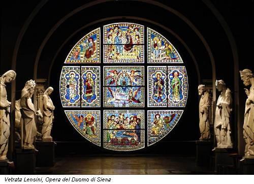 Vetrata Lensini, Opera del Duomo di Siena