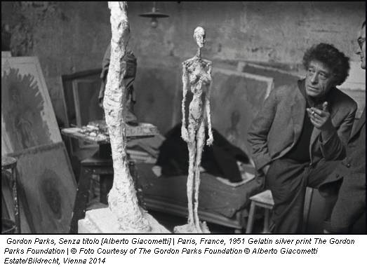Gordon Parks, Senza titolo [Alberto Giacometti] | Paris, France, 1951 Gelatin silver print The Gordon Parks Foundation | © Foto Courtesy of The Gordon Parks Foundation © Alberto Giacometti Estate/Bildrecht, Vienna 2014