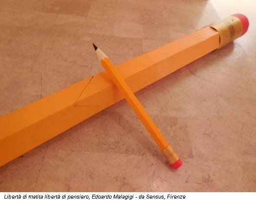 Libertà di matita libertà di pensiero, Edoardo Malagigi - da Sensus, Firenze