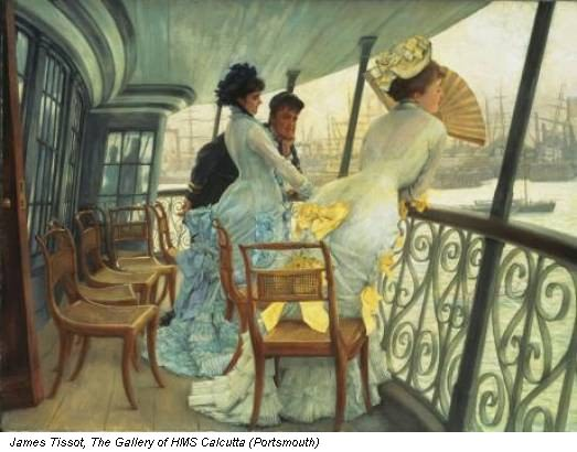 James Tissot, The Gallery of HMS Calcutta (Portsmouth)