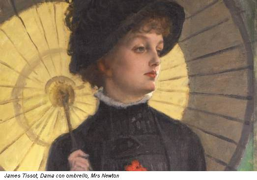 James Tissot, Dama con ombrello, Mrs Newton
