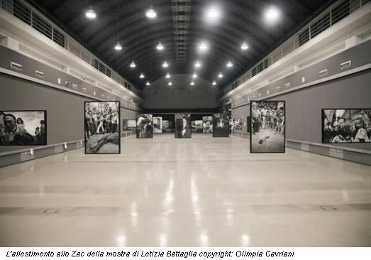 L'allestimento allo Zac della mostra di Letizia Battaglia copyright: Olimpia Cavriani