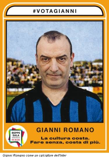 Gianni Romano come un calciatore dell'Inter