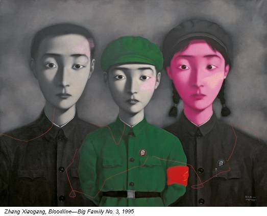 Zhang Xiaogang, Bloodline—Big Family No. 3, 1995