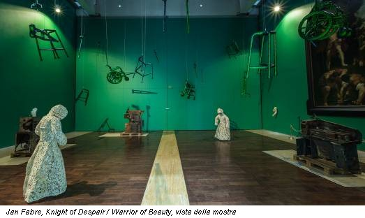 Jan Fabre, Knight of Despair / Warrior of Beauty, vista della mostra