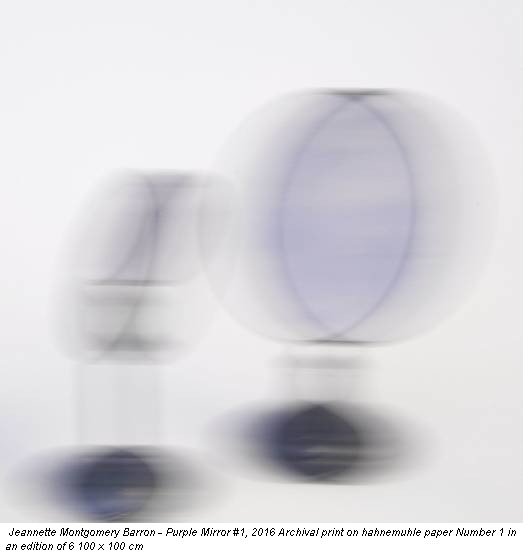 Jeannette Montgomery Barron - Purple Mirror #1, 2016 Archival print on hahnemuhle paper Number 1 in an edition of 6 100 x 100 cm