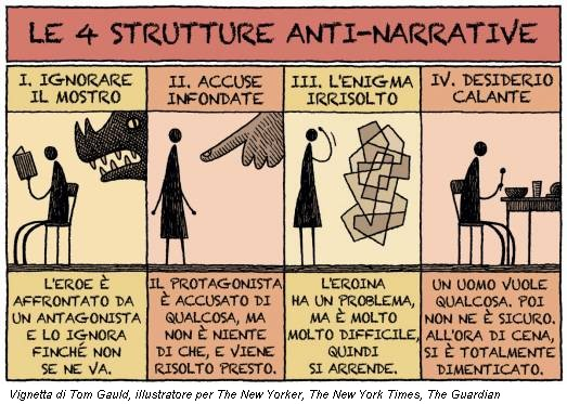 Vignetta di Tom Gauld, illustratore per The New Yorker, The New York Times, The Guardian