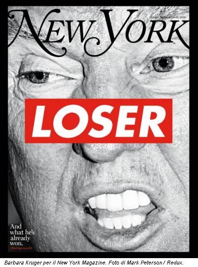 Barbara Kruger per il New York Magazine. Foto di Mark Peterson / Redux.