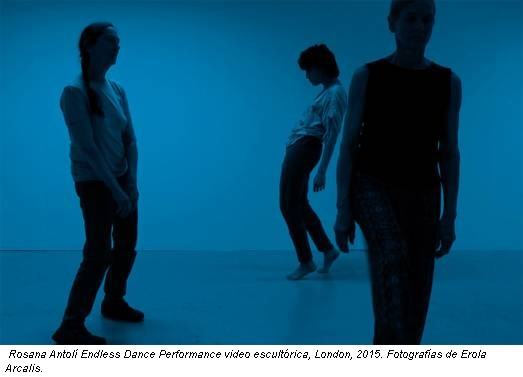 Rosana Antolí Endless Dance Performance video escultórica, London, 2015. Fotografías de Erola Arcalis.