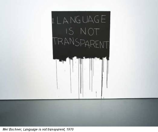 Mel Bochner, Language is not transparent, 1970