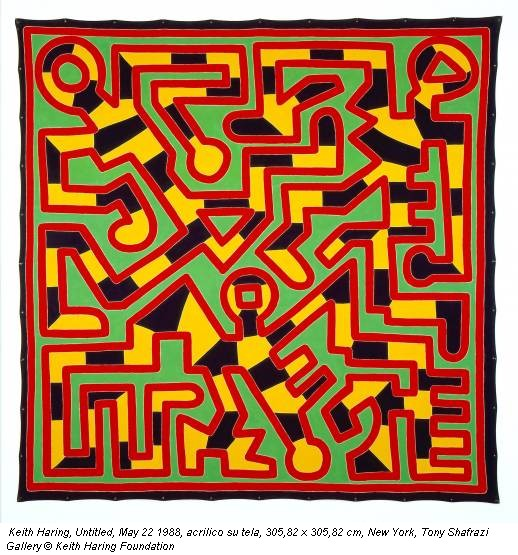 Keith Haring, Untitled, May 22 1988, acrilico su tela, 305,82 x 305,82 cm, New York, Tony Shafrazi Gallery © Keith Haring Foundation