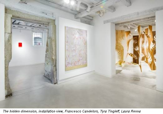 The hidden dimension, installation view, Francesco Candeloro, Tyra Tingleff, Laura Renna
