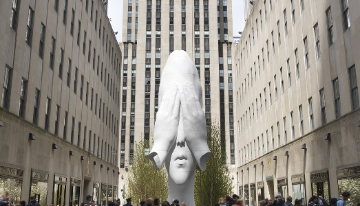 Jaume Plensa al Rockfeller Center di NY