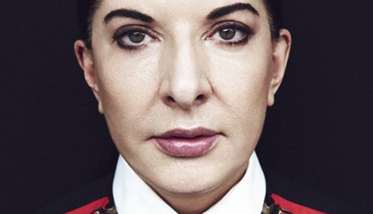 The artist is present. Marina Abramovic arriva a Firenze