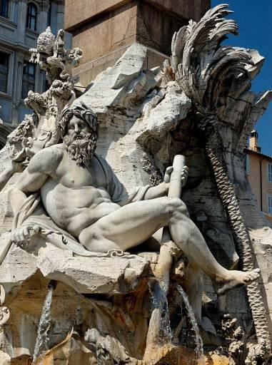 restauri | La Fontana dei quattro fiumi del Bernini