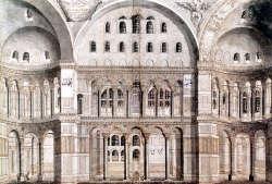 Santa Sofia a Istanbul, Cornelius Loos, 1710, prospetto meridionale interno