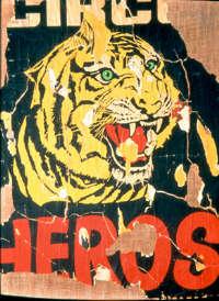 Rotella, La tigre 1962 décollage cm 110x85 Collezione Giorgio Franchetti Roma
