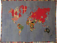Boetti Alighiero Mappa 1972-1973 arazzo ricamato