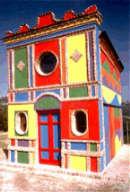 Sol LeWitt-David Tremlett, Cappella SS Madonna delle Grazie, loc Brunate, La Morra (Italia).