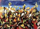 Guttuso, La Giara, bozzetto per siparietto, 1957. Pastello ad olio su carta incollata su compensato, 36,5x51,1 cm. Collezione Teatro Comunale, Firenze