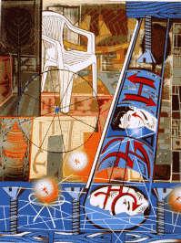 Lari Pittman, Untitled, 2000, olio e smalto su legno
