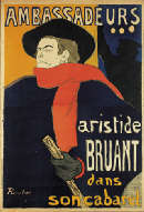 Henri de Toulouse-Lautrec (1864-1901) AMBASSADEURS, ARISTIDE BRUANT