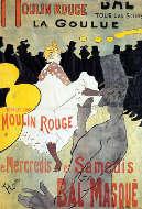 Toulouse Lautrec, Moulin Rouge, La Goulue, 1891, Litografia a colori.