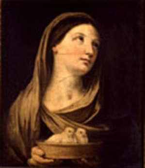 pinacoteca stuard, guido reni donna con colombe