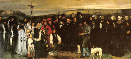 Funerale a Ornans – Gustave Courbet