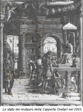 Lo stato del restauro della Cappella Ovetari nel 2003