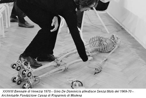 XXXVIII Biennale di Venezia 1978 - Gino De Dominicis allestisce Senza titolo del 1969-70 - Archivioarte Fondazione Cassa di Risparmio di Modena