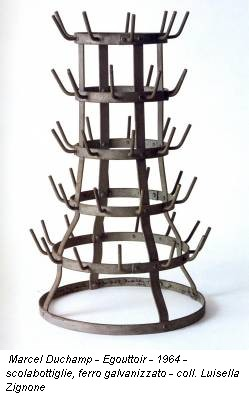 Marcel Duchamp - Egouttoir - 1964 - scolabottiglie, ferro galvanizzato - coll. Luisella Zignone