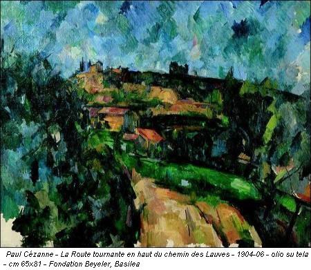 Paul Cézanne - La Route tournante en haut du chemin des Lauves - 1904-06 - olio su tela - cm 65x81 - Fondation Beyeler, Basilea