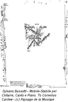 Sylvano Bussotti - Mobile-Stabile per Chitarre, Canto e Piano. To Cornelius Cardew - (c) Paysage de la Musique