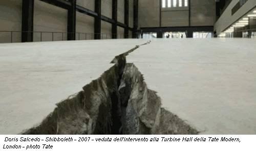 Doris Salcedo - Shibboleth - 2007 - veduta dell'intervento alla Turbine Hall della Tate Modern, London - photo Tate