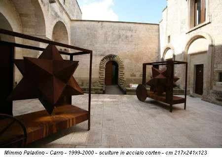 Mimmo Paladino - Carro - 1999-2000 - sculture in acciaio corten - cm 217x241x123